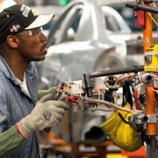 The Arlington and Willow Run plants, GM sources and analysts say, are the subject of an internal review at GM to find out which facility could end up producing the company's full-size, rear-wheel-drive cars. Photo: General Motors Corp.