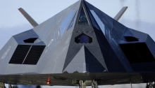 Widely publicized for its role on the 1991 Gulf War, Lockheed's F-117A stealth fighter was developed at the company's secretive Skunk Works, then in Burbank, Calif.