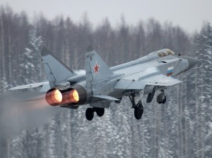"The MiG-31 is a long-range interceptor designed to cruise over Soviet airspace and knock down enemy aircraft and cruise missiles. Dubbed ""Foxhound"" by NATO officials, it is the first Soviet plane to have a radar enabling it to shoot down aircraft outside the pilot's visual range."
