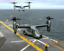 The V-22, being produced by Bell and Boeing Helicopters of Ridley Township, Pa., can fly twice as fast and twice as far as conventional helicopters. It will cut in half the time Marines need to reach the shore from a ship and allow the dispatch of troops from a greater distance.