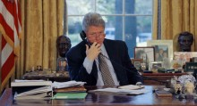 "Clinton called back attack planes last month after Saddam vowed to comply with U.N. inspectors. The president said he made clear ""that if Saddam failed to cooperate fully, we would be prepared to act without delay, diplomacy or warning."""